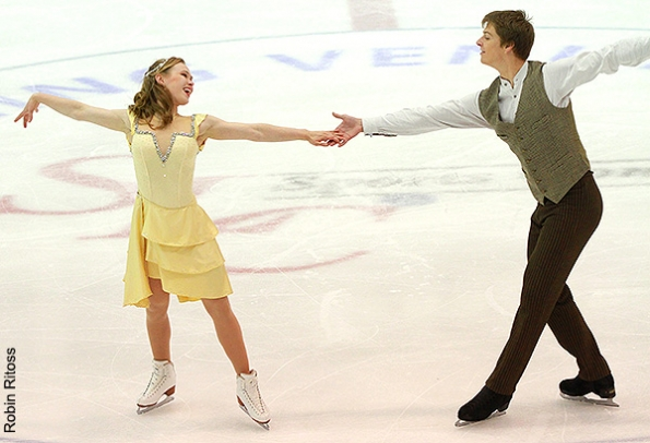 Siobhan Heekin-Canedy and Dmitri Dun skating their Yankee Polka short dance at the 2012 US International Figure Skating Classic