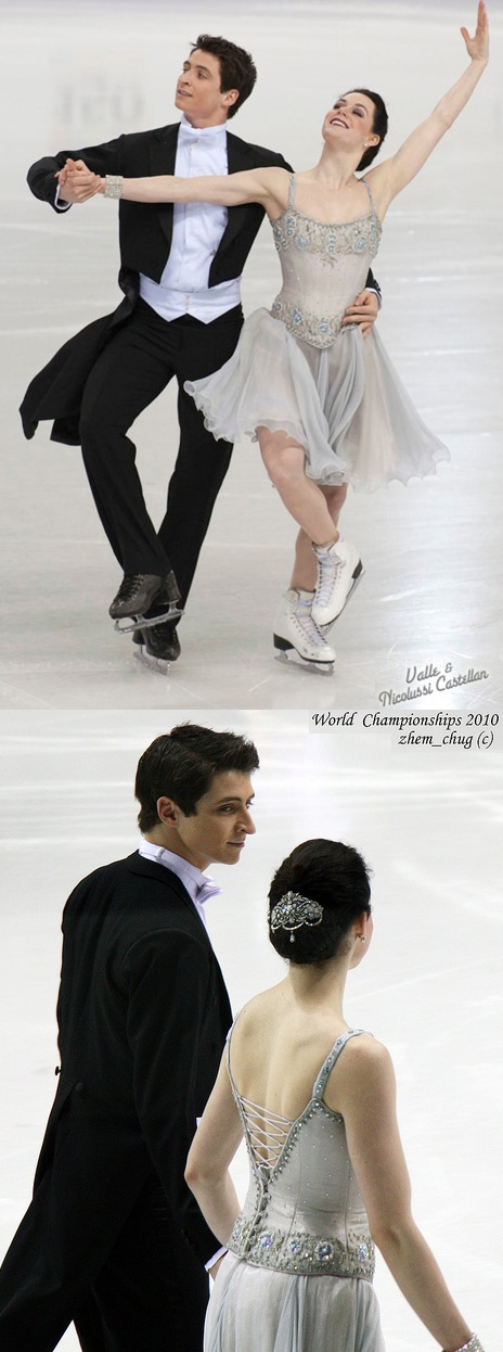 Tessa Virtue and Scott Moir's beautiful Golden Waltz costumes at the 2010 World Championships