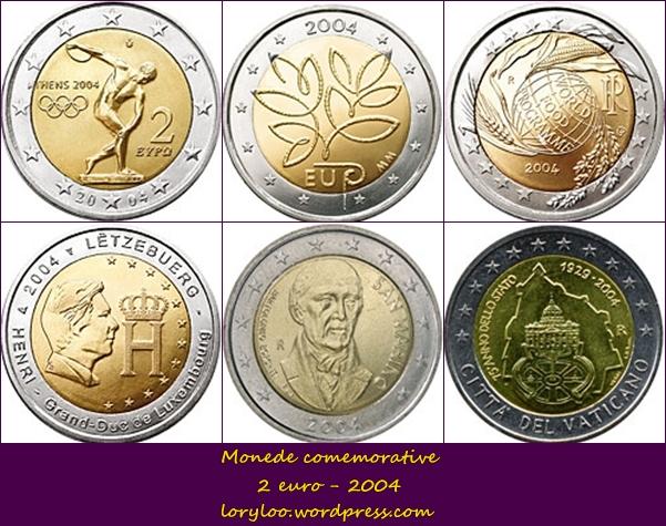 Monede comemorative 2 euro 2004