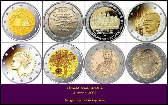Monede comemorative 2 euro 2007