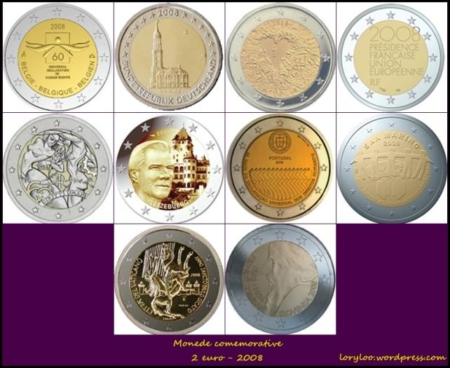 Monede comemorative 2 euro 2008