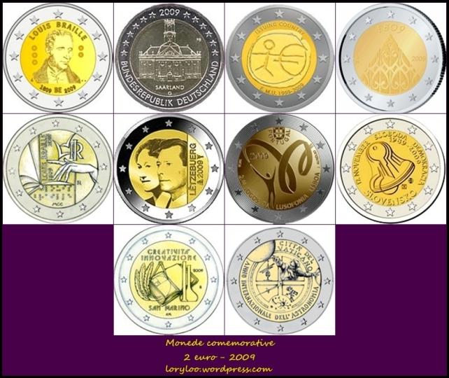 Monede comemorative 2 euro 2009