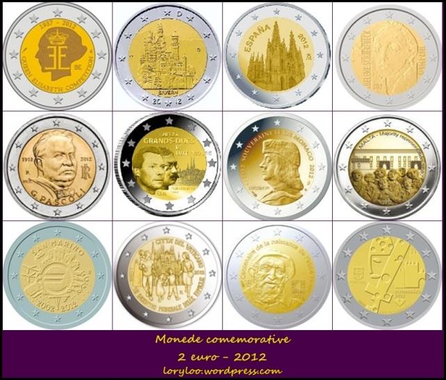 Monede comemorative 2 euro 2012