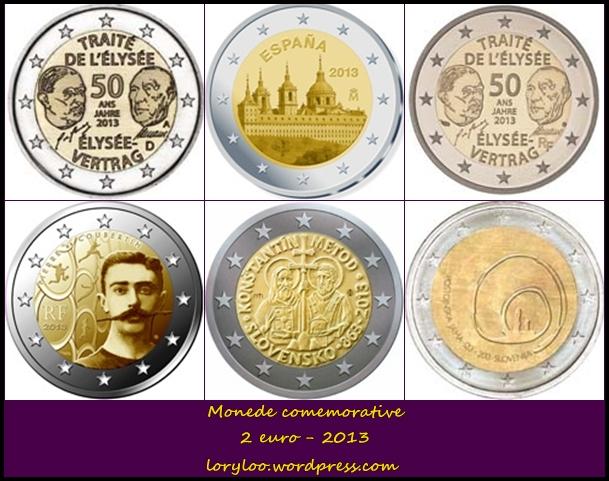 Monede comemorative 2 euro 2013