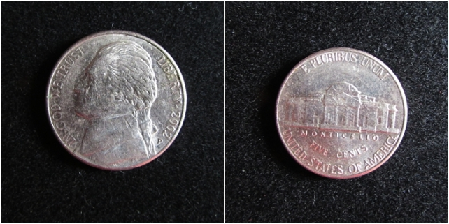 5 cents the jefferson nickel