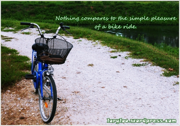 The simple pleasure of a bike ride